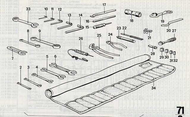 tool kits for bmw motorcycles, roll, tools, original, feeler gauge